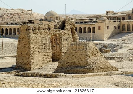 Hatshepsut Temple ruins in Luxor near Nile river. Egypt