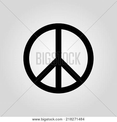 Peace icon. Pacifist, hippie symbol. Flat design. Stock - Vector illustration