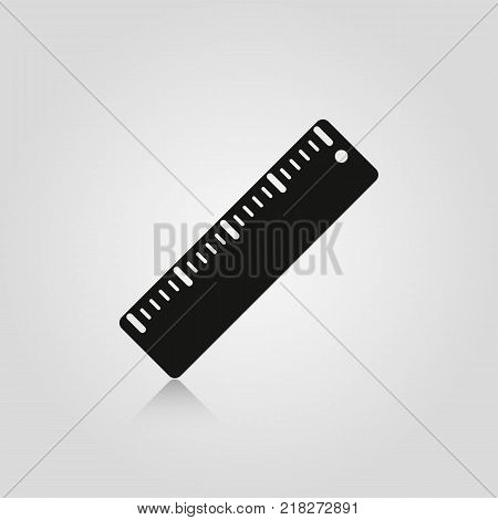 Ruler isolated on white background. Stock - Vector illustration for your design and business