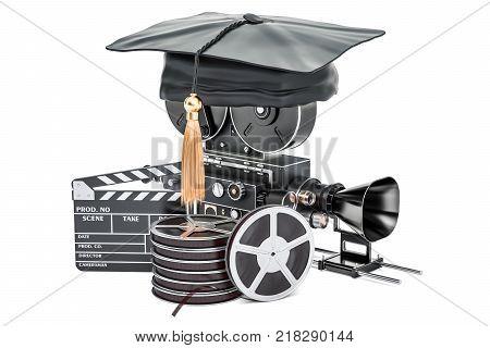 Education in film school concept 3D rendering