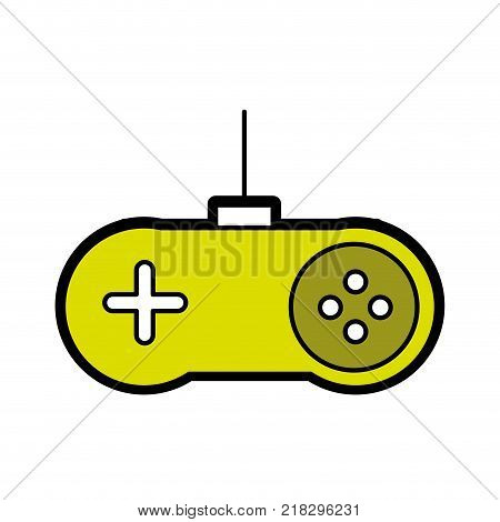 Gamepad of videogame play retro and technology theme Isolated design Vector illustration