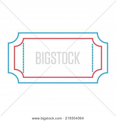 Ticket of label coupon and event theme Isolated design Vector illustration