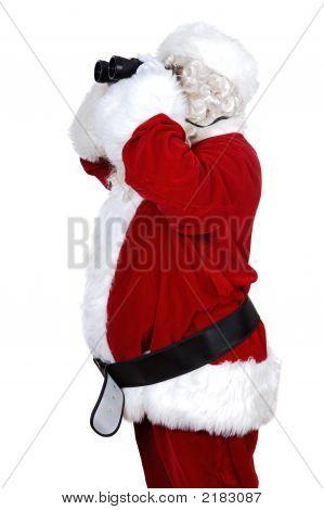 Santa Claus With Binoculars
