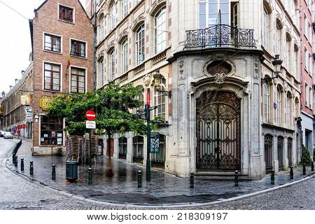 BRUSSELS, BELGIUM - August 5, 2017: Street view of Buildings around city, one of the most popular tourist destinations in brussel, Belgium.
