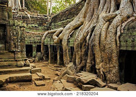 The ancient ruins of Angkor Wat at Siem Seap in northern Cambodia