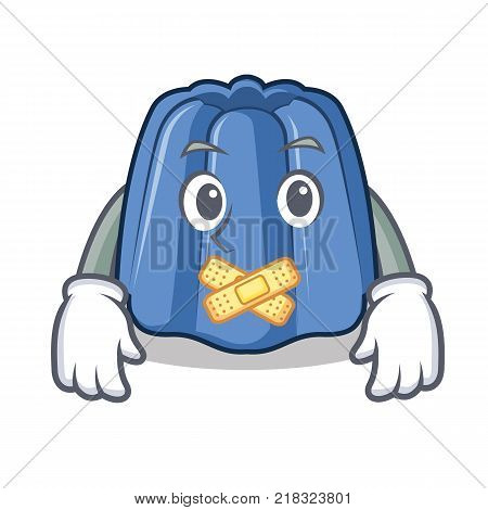 Silent jelly character cartoon style vector illustration