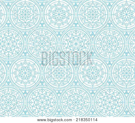 Pale color snowflakes Xmas and New Year elegant luxury style seamless pattern. Abstract winter vector background. Repeatable motif for holiday wrapping paper, fabric, backdrop.