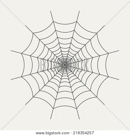 Icon of spider web in linear style isolated on white background. Graphic element for your design. Vector illustration
