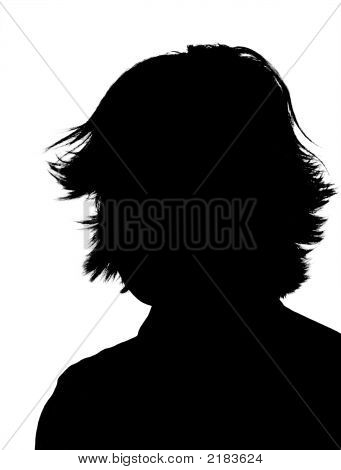 Young Adult Woman Silhouette