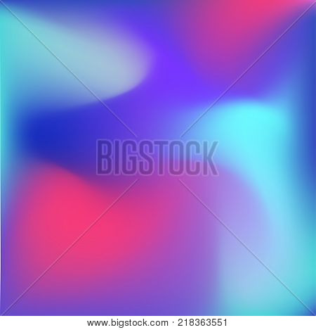 Cold colors gradient background, vibrant liquid foggy shapes