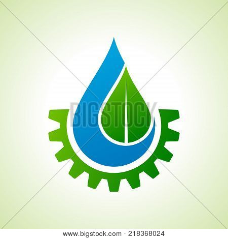 Save Nature and go green concept with eco gear stock vector