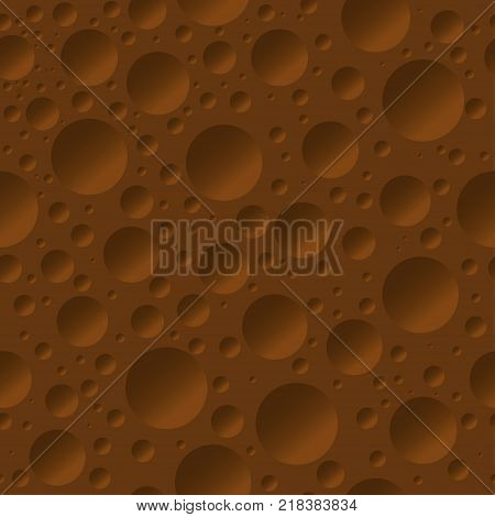 Seamless pattern of aerated porous chocolate. Chocolate seamless background. Vector illustration.