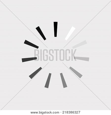Loading icon. Percentage loading, downloading, uploading progress. Vector illustration.