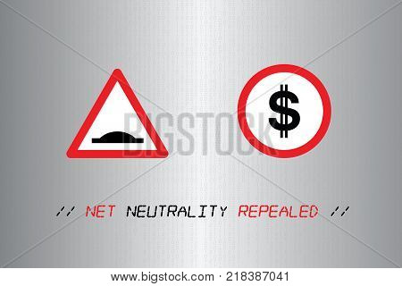 USA, 14 December 2017 - Net Neutrality rules repealed by U.S. government