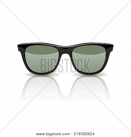 Black Glasses isolated on white background. Vector