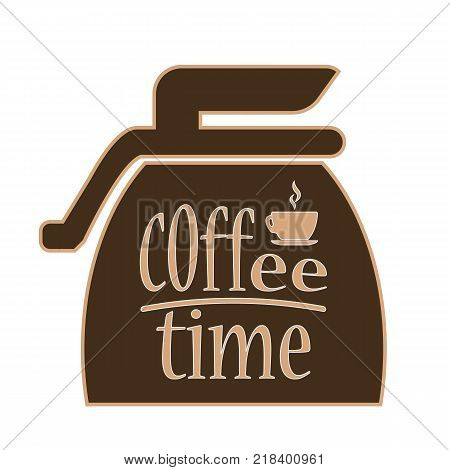banner design for coffee shop restaurant menu cafeteria.There is always time for coffee ..Coffee background with a coffee cup for cafe.Coffee banner for coffee break time.