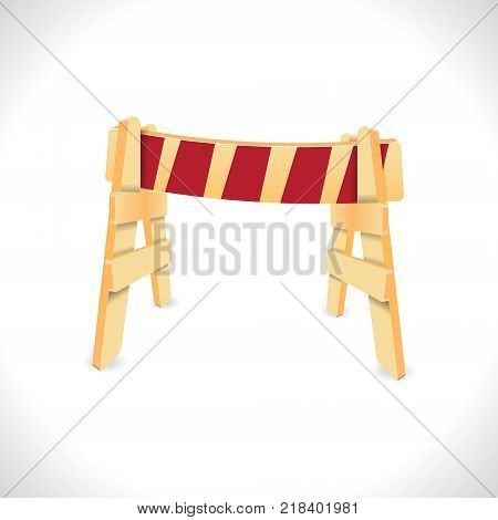 Traffic Barricade isolated on white. Vector illustration
