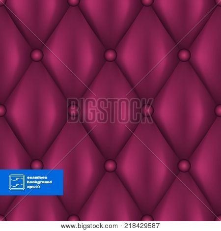 Abstract Quilted Furniture Part Background. Vector illustration