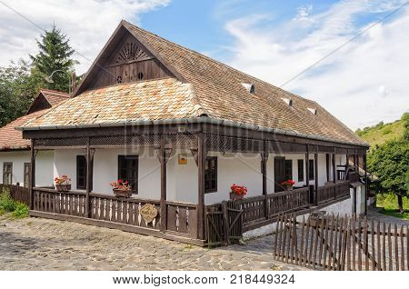 A traditional Paloc farmhouse in the UNESCO World Heritage village - Holloko, Hungary, 13 July 2011