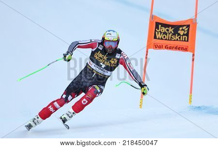 VAL GARDENA, ITALY - DECEMBER 14: \Manuel Osborne-Paradis of Canada races down the Saslong course during the Audi FIS Alpine Ski World Cup Men's Downhill training on December 14 2017
