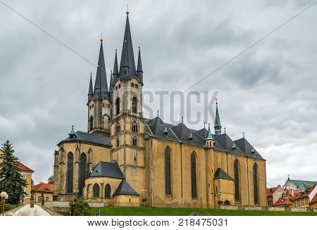 The Church of St. Nicholas was established in the 13th century as a three-naved basilica Cheb Czech republic