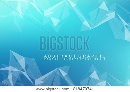 Futuristic background communication, globalization. Lines and dots connected to Science fiction scene. Modern vector template for your design.