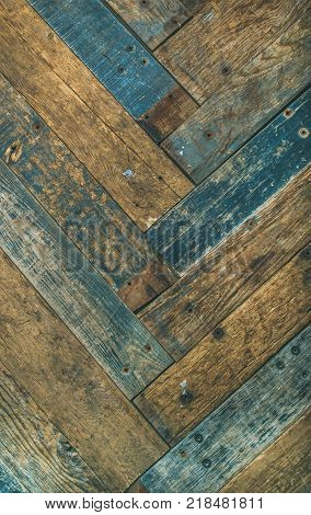 Reclaimes rustic wooden barn door, wall or table texture, background and wall, vertical composition