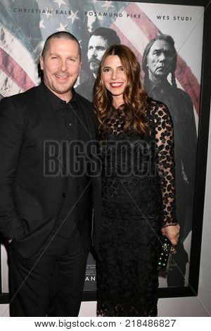 LOS ANGELES - DEC 14:  Christian Bale, Sibi Blazic Bale at the