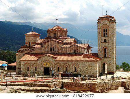 Church by the Ohrid Lake in Macedonia
