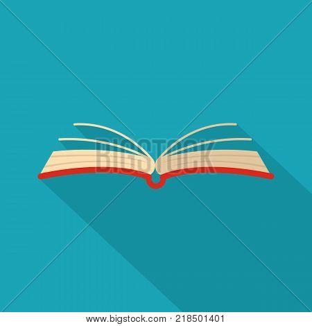 Book literature icon. Flat illustration of book literature vector icon for web