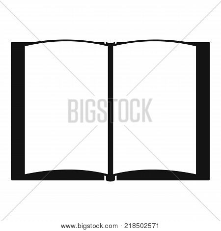 Book novel icon. Simple illustration of book novel vector icon for web