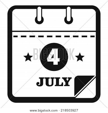Calendar eleventh november icon. Simple illustration of calendar fourth july vector icon for web