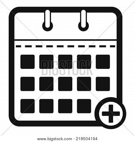 Calendar deadline icon. Simple illustration of calendar deadline vector icon for web