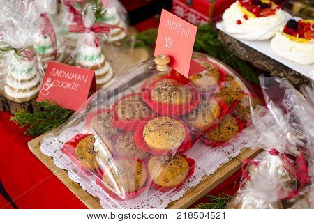 ALANYA ANTALYA TURKEY 16 December 2017 X-mas Bazaar at Mezza, International Alanya Festival with handmade foods