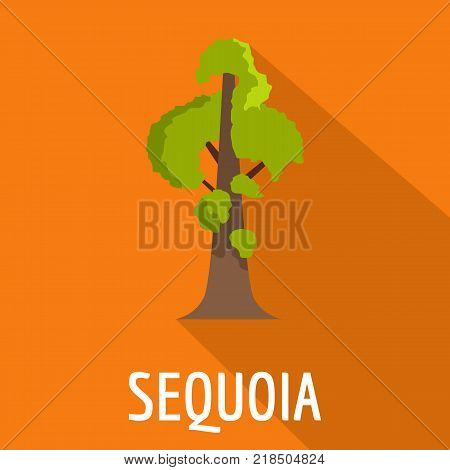 Sequoia icon. Flat illustration of sequoia vector icon for web