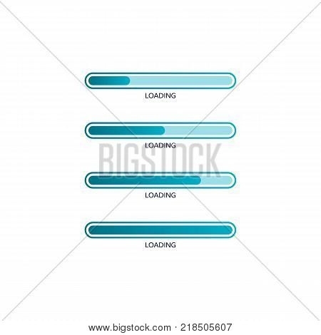 Loading bar element icon. Creative web design download timer. Status loading progress. Vector illustration isolated on white background
