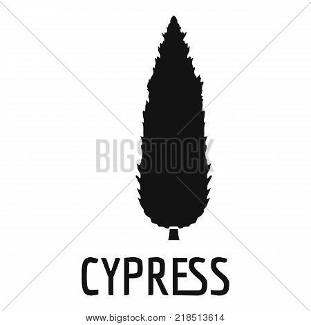 Cypress tree icon. Simple illustration of cypress tree vector icon for web