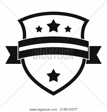 Badge knight icon. Simple illustration of badge knight vector icon for web