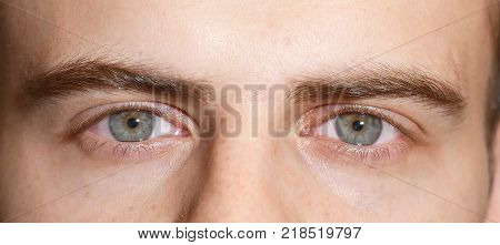 open eyes of a man, eyes of a man