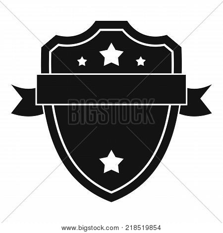 Badge warrior icon. Simple illustration of badge warrior vector icon for web