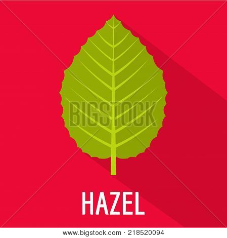 Hazel leaf icon. Flat illustration of hazel leaf vector icon for web