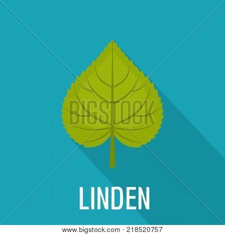 Linden leaf icon. Flat illustration of linden leaf vector icon for web