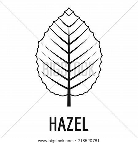 Hazel leaf icon. Simple illustration of hazel leaf vector icon for web