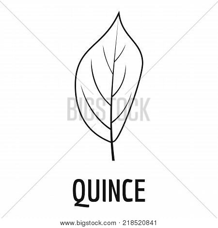 Quince leaf icon. Simple illustration of quince leaf vector icon for web