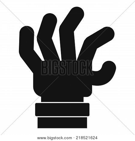Hand fear icon. Simple illustration of hand fear vector icon for web