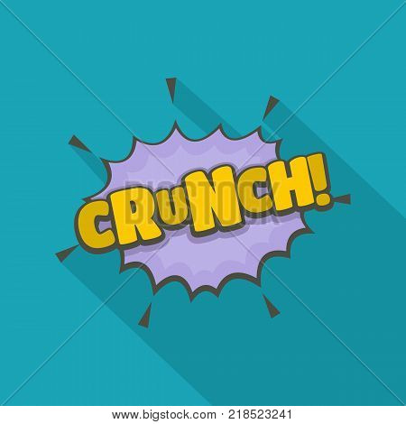 Comic boom crunch icon. Flat illustration of comic boom crunch vector icon for web