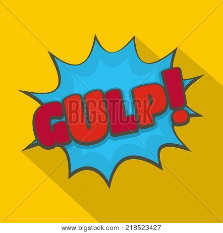 Comic boom gulp icon. Flat illustration of comic boom gulp vector icon for web