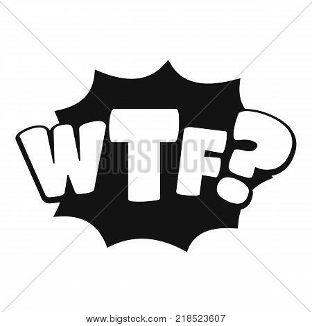 Comic boom wtf icon. Simple illustration of comic boom wtf vector icon for web