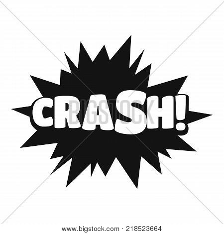 Comic boom crash icon. Simple illustration of comic boom crash vector icon for web