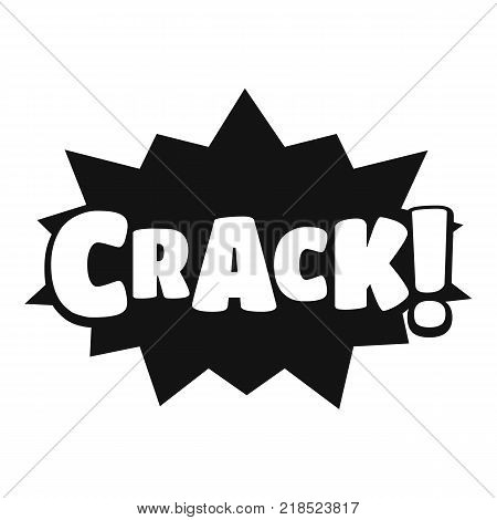 Comic boom crack icon. Simple illustration of comic boom crack vector icon for web